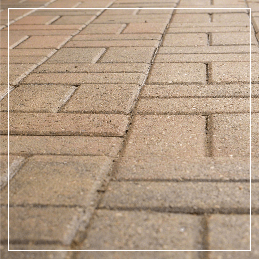 tan pavers