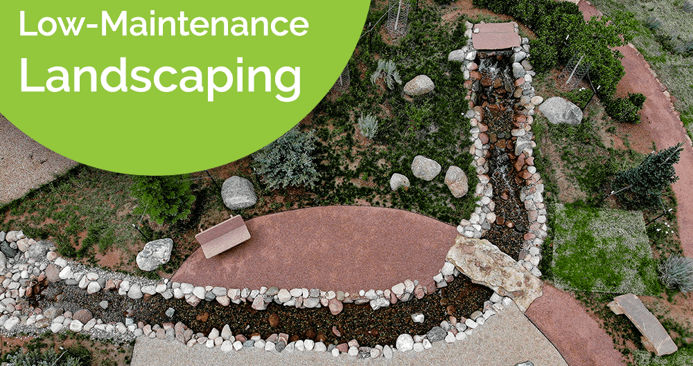 Low-Maintenance Landscape that uses xeriscaping and native plants