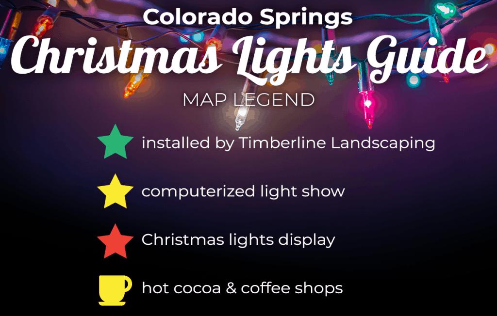 Colorado Springs Christmas Lights Guide Map legend