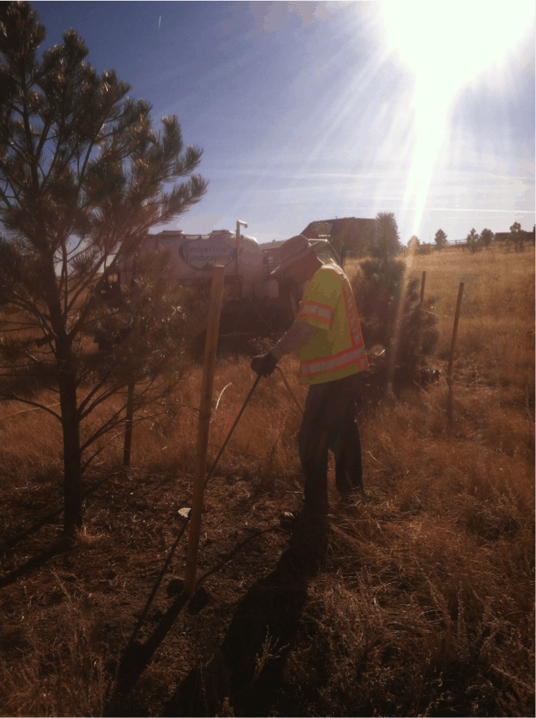 Preparing Mulch in Colorado Springs