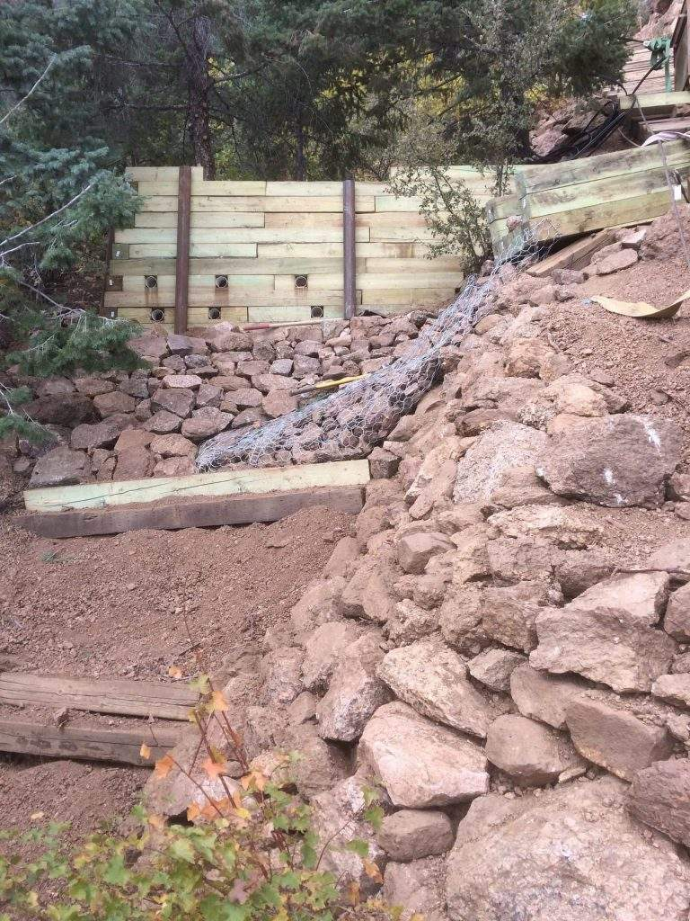 Construction on the Manitou Incline