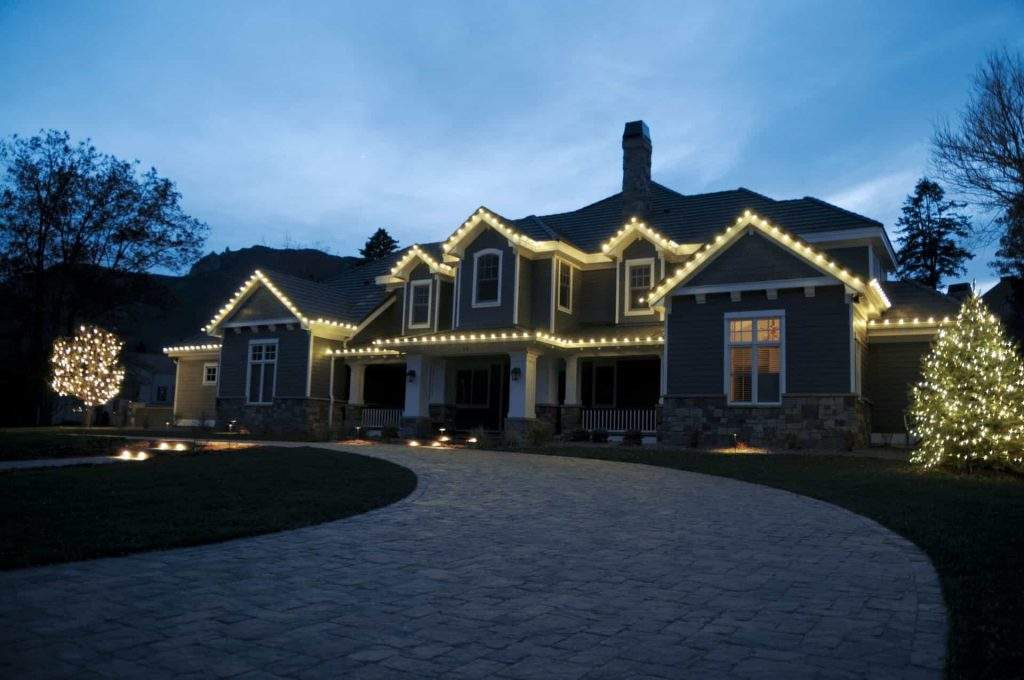 Christmas Lights on Residence in Colorado Springs