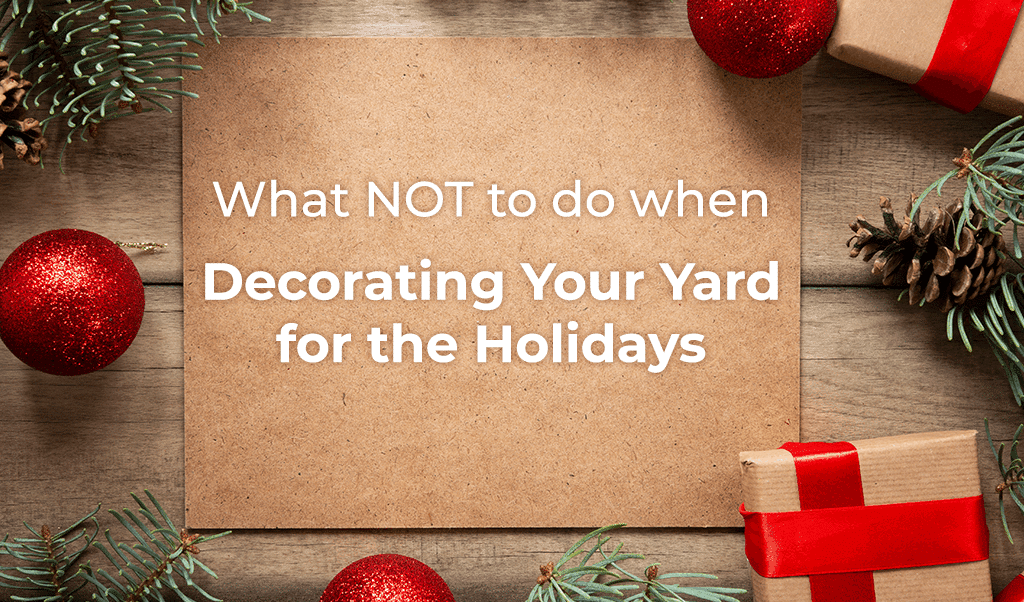 What NOT to do when Decorating Your Yard for the Holidays