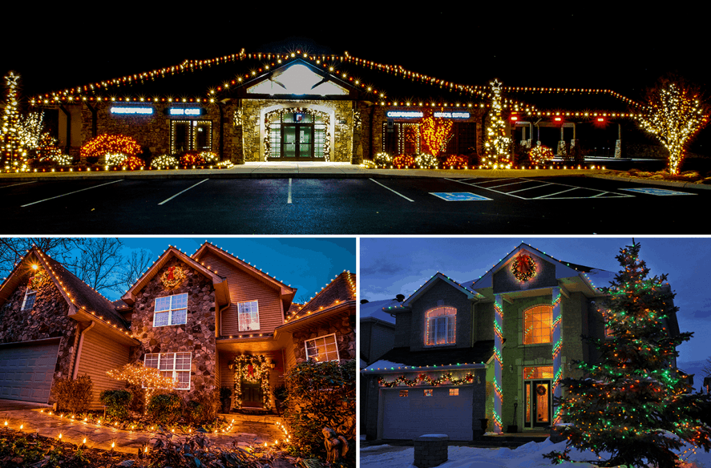 commercial and residential Christmas lights to view