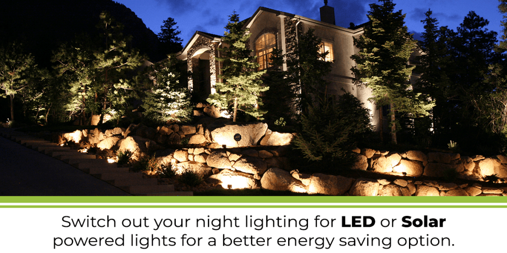led and solar lighting as eco and environmentally friendly landscaping option