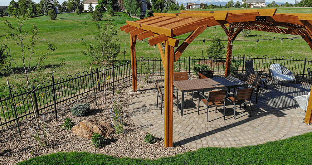 ourdoor living spaces pergola over a patio