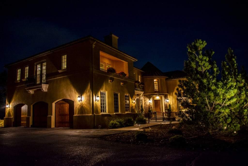 outdoor lighting of home
