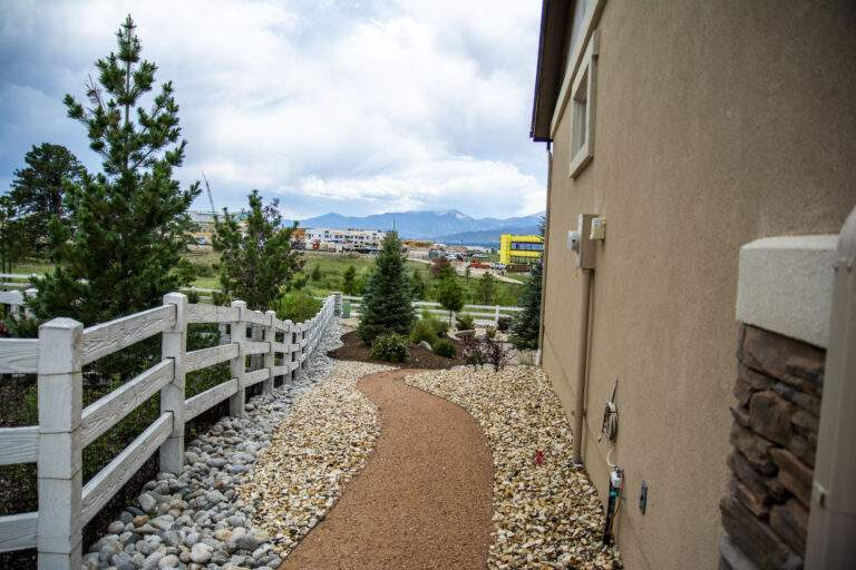 Side Xeriscaped Landscaping
