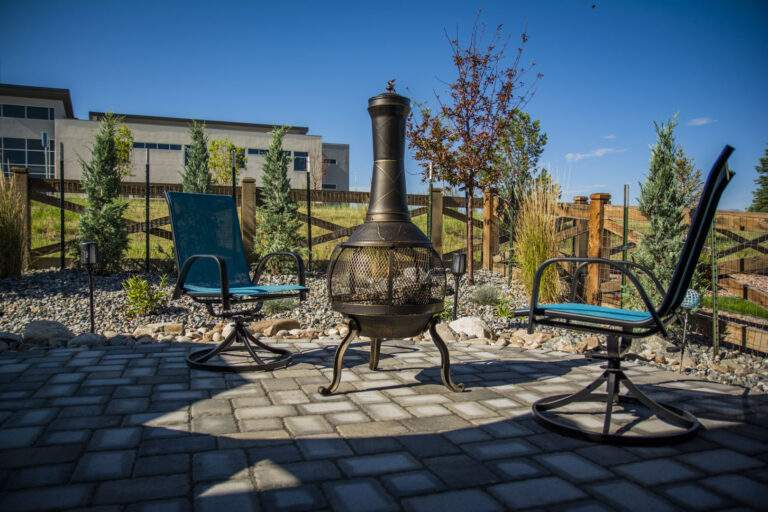 Patio with Xeriscaping