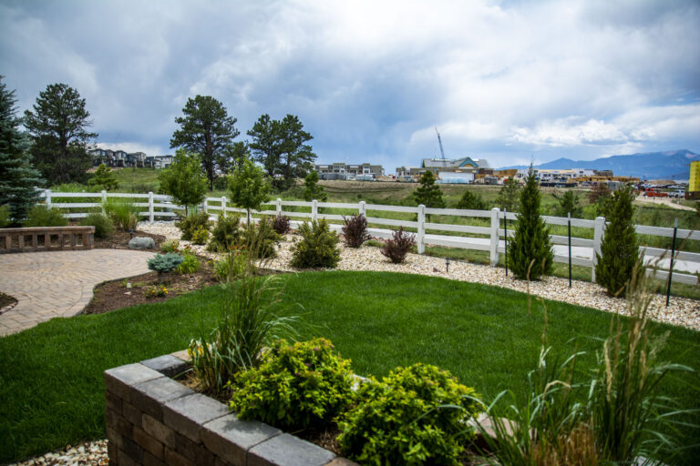 Turf Area with Flowerbed
