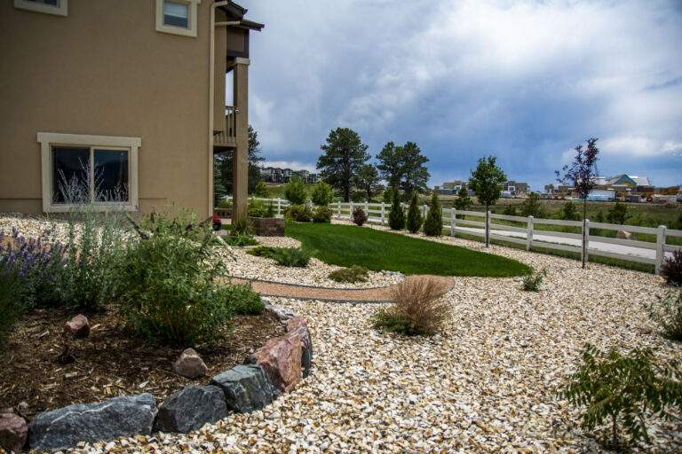 Xeriscaped Side Yard