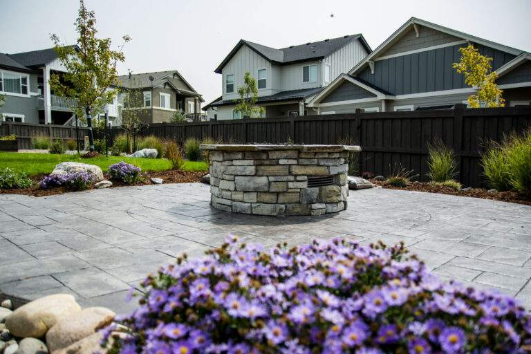 Paved Patio with Fire Pit