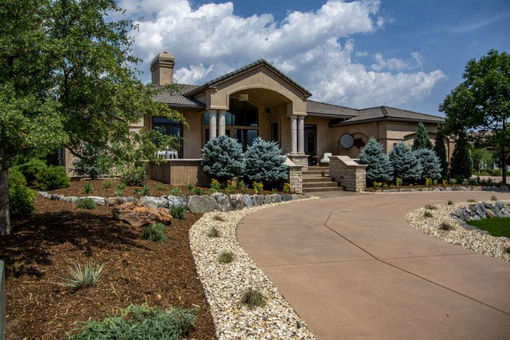 Front Yard Landscape with Driveway