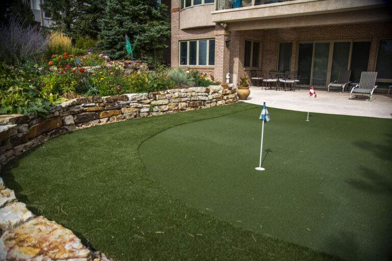 Putting Green with Retaining Wall