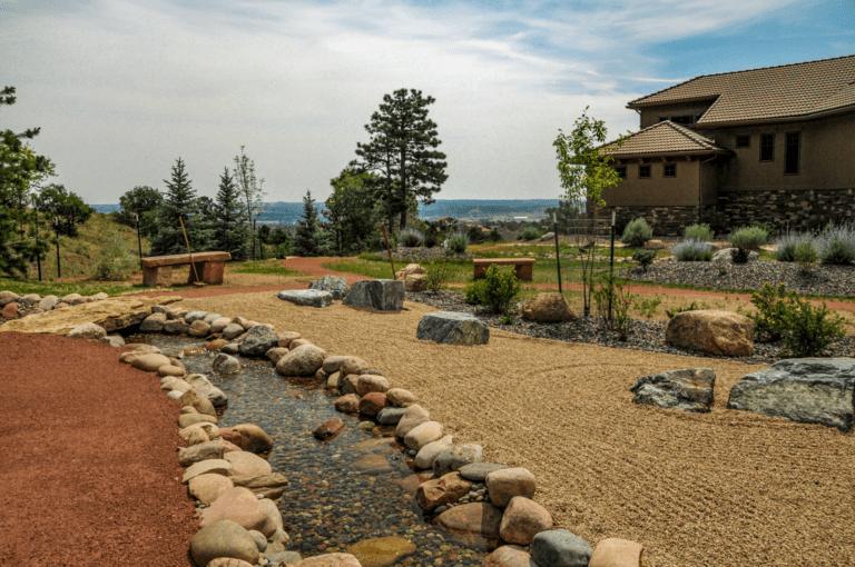Zen Garden with Creek