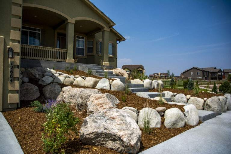 Front Retaining Wall