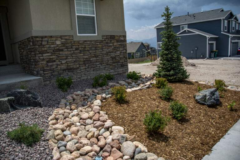 Front Xeriscaped New Home