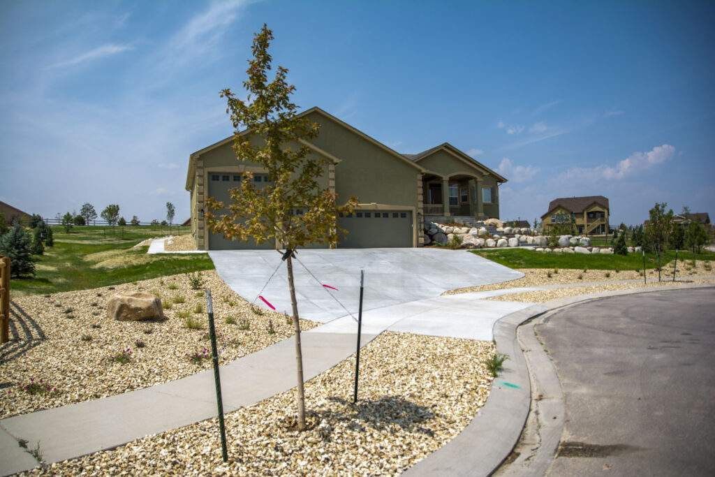 front xeriscaping new home