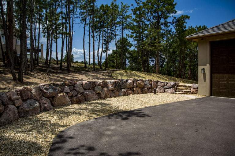 Retaining Wall & Steppers