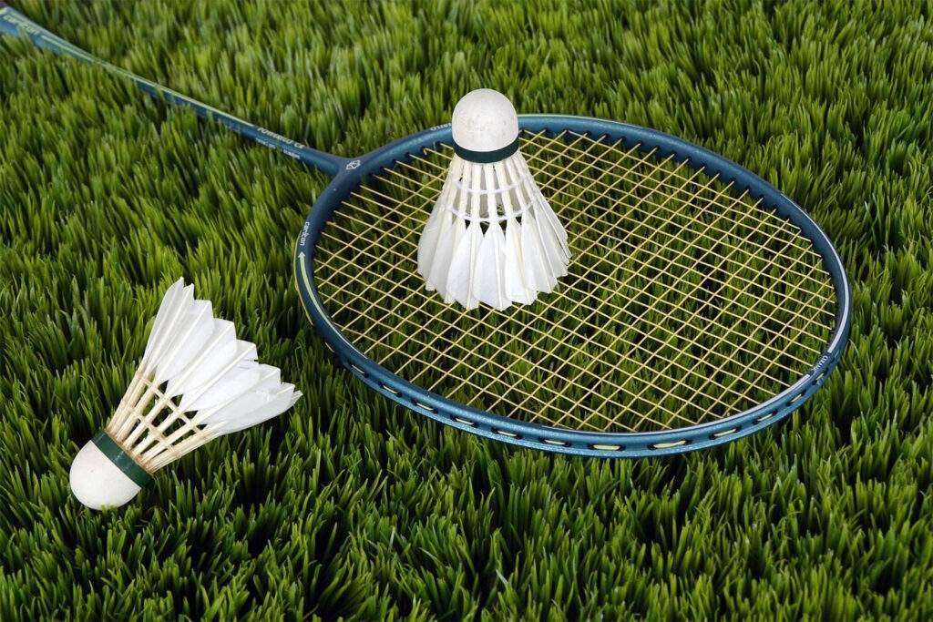 badminton game outdoor recreation